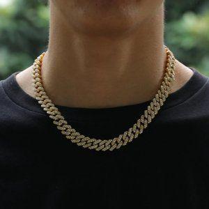 Men's Women's 12mm Cuban Link Chain